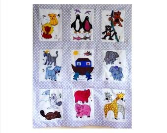 Noah's Ark Baby Quilt, Duvet, Wall Hanging - Custom