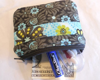 Padded ZIPPER POUCH with Matching Fabric Trim