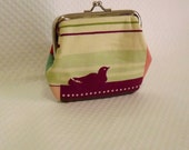 Coin purse - Change Purse - Pink and Cream Patchwork Coin Purse - Patchwork Change Purse