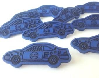 Blue Race Car Buttons - 1 1/2 inch - YOU PICK QUANTITY 10 thru 30