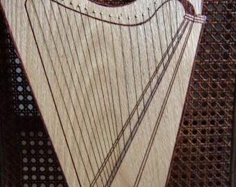 Celestial Harp Cutting Board Wood Handmade