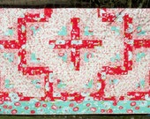 """Twin Quilt Log Cabin Scrumptious fabric by Bonnie and Camille for Moda 63"""" x 86"""""""
