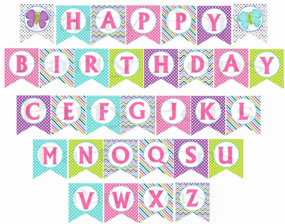 Butterfly Party, Butterfly Banner, Butterfly Birthday