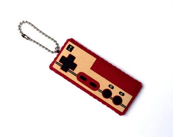 Felt Famicom Controller (Player 1) Plush Keychain