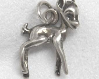 Deer Charm Sterling Silver