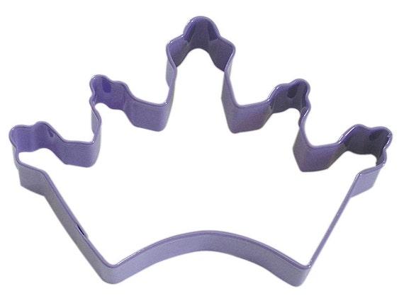 large Lavender / Purple Crown Cookie Cutter Princess Queen King Wizard of Oz Glinda
