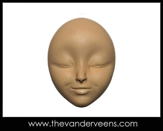 Mold No.177 (Face with closed eyes) by Veronica jeong