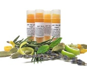 New and improved! Mix and match a set of four vegan lip balms