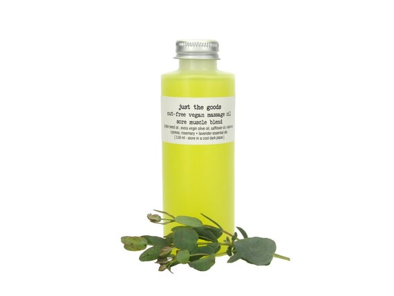 nut-free vegan massage oil - 5 aromatherapeutic varieties - 4 oz / 118 mL