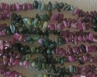 Tourmaline Mixed Color Chips Length 15 And One Quarter Inches