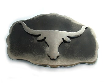 Longhorn Metal Belt Buckle by WATTO Distinctive Metal Wear