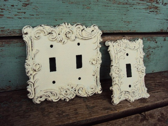 Vintage French Chic Light Switch Plate Cover Double And Single