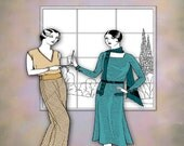 1930 Illustrated Home Sewing Summer Create Easy Art Deco Wardrobe