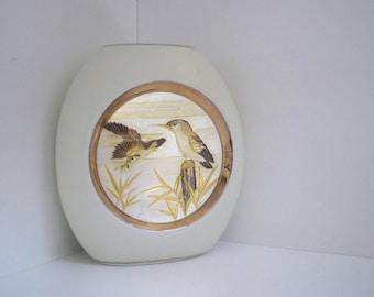 Vintage Home Decor  Porcelain Vase EIWA of Chokin Japan Kingfisher Bird Vase