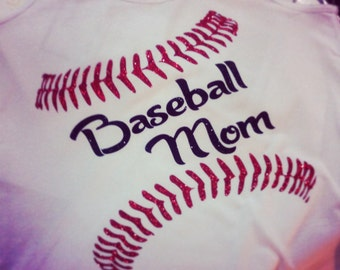Baseball bling shirt. Baseball mom tank top. Custom baseball tee. Baseball shirt. Baseball mom shirt. Baseball team shirt.