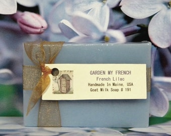 GARDEN MY FRENCH Lilac Soap - Natural Soap - Homemade Goat Milk Soap - Lilac Soap Bar