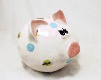 Ceramic Piggy Bank with Attitude Mine