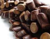 Banghaw Wooden Angle Cut Log Beads Larger Size 8-12mm to 18-22mm 10pcs