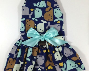 Once In A Whale Dog Dress Harness Size XXXS through MEDIUM by Doogie Couture