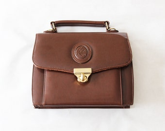Vintage Brown Top Handle Satchel Bag