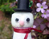 Wine cork snowman Christmas ornament/bottle tag
