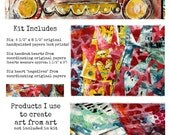 Handpainted Original Mixed Media Art Paper Pack by Stephanie Ackerman Designs