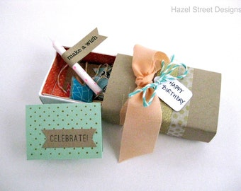 Birthday Party in a Mini Box * Match Box * Tiny * Gift