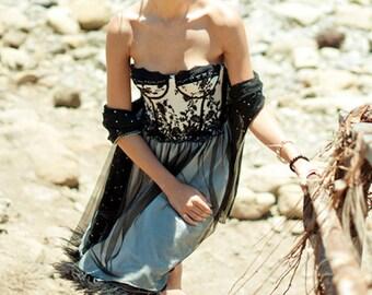 Betty Black Lace Bustier Dress