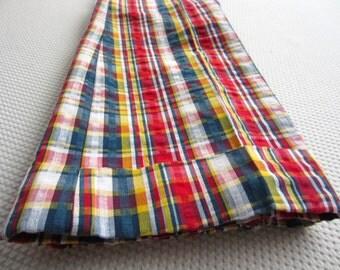Vintage Sears Plaid Pants Trousers Children 12 Slim