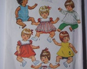 "Dress Pinafore Panties Pants Romper Tops size Large 18"" to 20"" dolls  DOLL CLOTHES  Simplicity  5947"