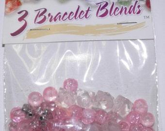 Cousins - Pink Cube Glass Bead Mix