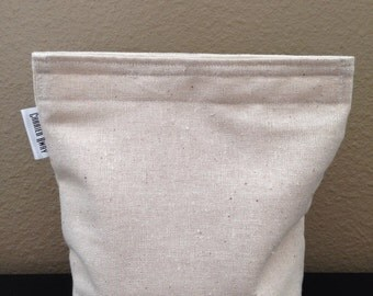 Sandwich Bag with Gusset Bottom Natural Linen