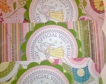 Tooth fairy pouch, tooth fairy tags, tooth fairy money holder, tooth fairy boxes, money holder, gift card holder