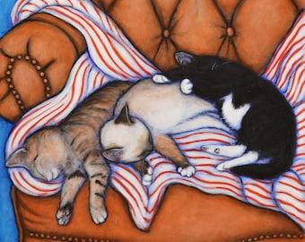 3 Little Kittens Original Heidi Shaulis oil painting
