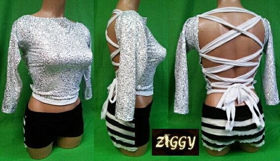 Custom Sparkle Strappy Back Top