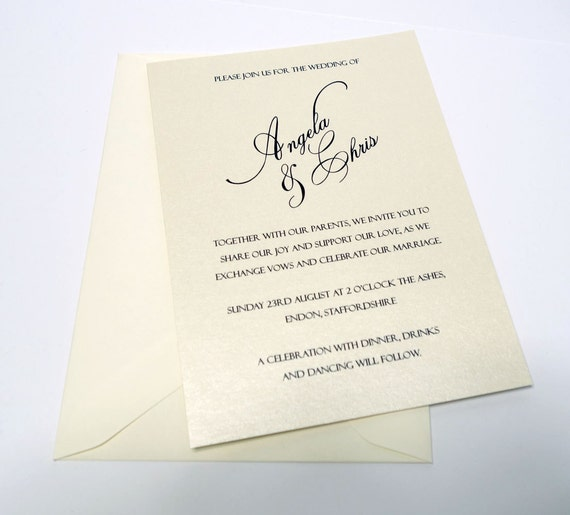 Simple But Elegant Wedding Invitations