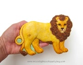 SIX Leo Lion Hand Mold Sugar Cookies Baked Goods