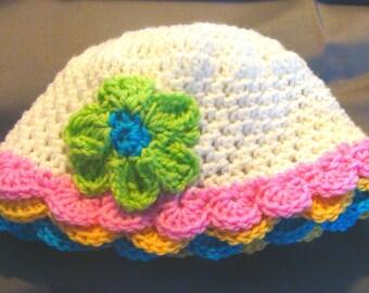 Cotton Sunhat Infants to Adults Crochet Pattern PDF 133