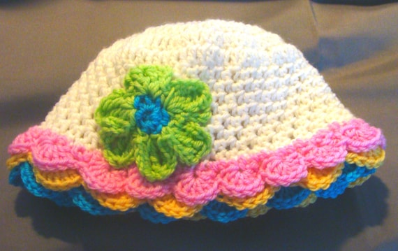 Cotton Sunhat Infants to Adults Crochet Pattern PDF 133