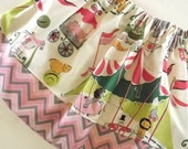 Girls Twirl Skirt Circus and Chevron Size NB  6m 12m 18m 24m 2t 3t 4t 5t