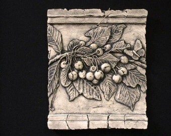 Cherries Ceramic Pottery Fruit Ceramic Relief Porcelain Tile