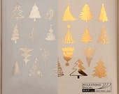 Christmas Tree Ceramic Decals, Glass Decals or Enamel Decals