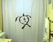 honu turtle Shower Curtain Hawaiian bathroom decor kids bath custom unique shared size color white