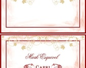 Wedding Placecards 50 Elegant Rustic Vineyard Placecards for Rehearsal Dinners, Receptions & Parties