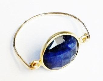 Blue Sapphire Ring   Sapphire Gemstone Ring  14K Gold Filled Ring   Sapphire Ring   Sapphire Jewelry