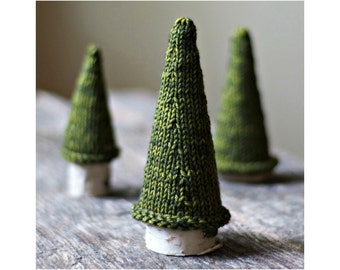 Knitting Pattern - Jack Pine Tree - Knit Christmas Tree -  Holiday Decor - Knitted Tree - Knit Tree Pattern
