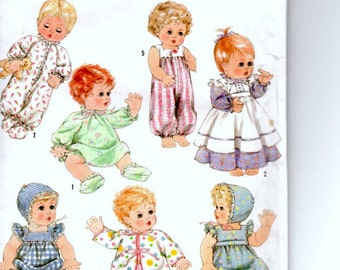 Doll Clothes Pattern, Simplicity Crafts Sewing Pattern, Large Baby Doll Clothing Pattern