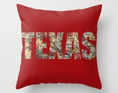 Red TEXAS Pillow Cover 16 x 16 Home Decor ***SALE***