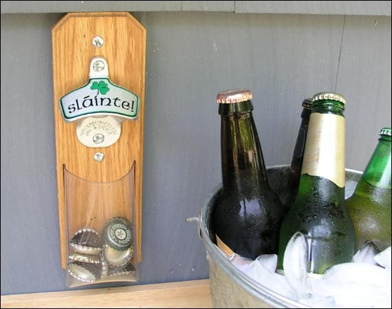 irish cap catcher bottle opener clear pouch magnetic or. Black Bedroom Furniture Sets. Home Design Ideas