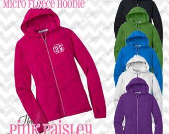 Monogrammed Fleece Hoodie Jacket